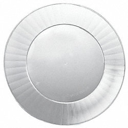 Disposable Plate, 7 1/2 In, Clear, PK 160
