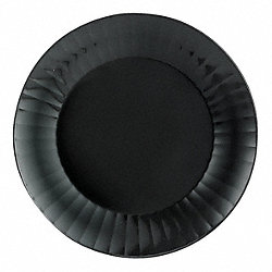 Disposable Plate, 7 1/2 In, Black, PK 160