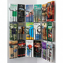 Pamphlet Wall Display, 18 Compart, Blk