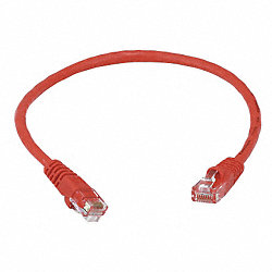 Patch Cord, Cat5e, 1Ft, Red