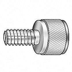 Thumb Screw, Knurled, 5/16-18x1 L, Stl