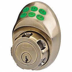Keypad deadbolt Schlage E Antique Brass