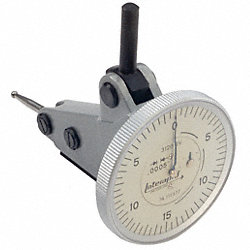 Dial Test Indicator, 0-0.60 In, Vert, White