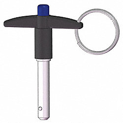 T Handle Lock Pin, 2, 3/8, SS