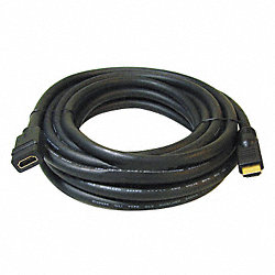 HDMI Extension Cable, Black, 25 ft., 24AWG
