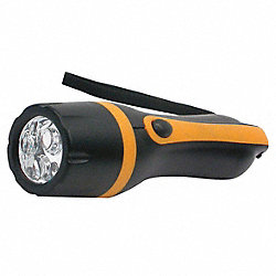 Industrial Flashlight, AAA, LED, Black