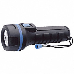 Industrial Flashlight, D, LED, Black