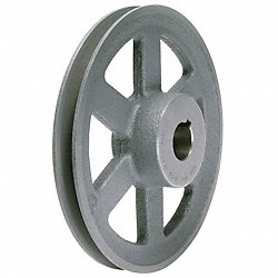 V-Belt Pulley, 6.25 In OD, 1 In Bore, 1GRV
