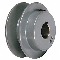 V-Belt Pulley, 3.15 In OD, 1/2 Bore, 1GRV