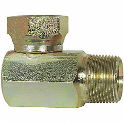 Hose Adapter, MNPT to FNPSM, 90 Deg, Pk 5