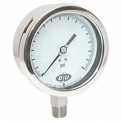Compound Gauge, 4-1/2 In, 15 psi, NIST