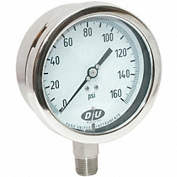Pressure Gauge, 0 to 160 psi, NIST