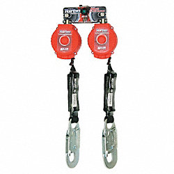 Self-Retracting Lifeline, Red, 6 ft. L