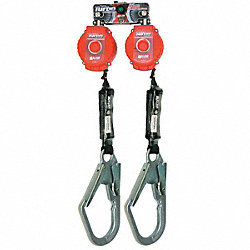 Self-Retracting Lifeline, 6 ft, Plystr, Red