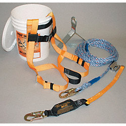 Fall Protection Kit, Univ., 310 lb, 50 ft L