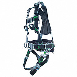 Full Body Harness, L/XL, 400 lb., Black
