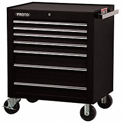 Rolling Cabinet, 34 In, 7 Dr, Black