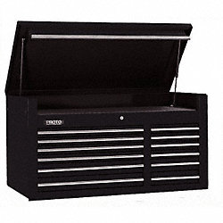 Tool Chest, 50 In, 12 Dr, Black