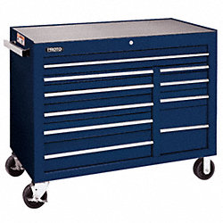 Rolling Workstation, 50 In, 10 Dr, Blue