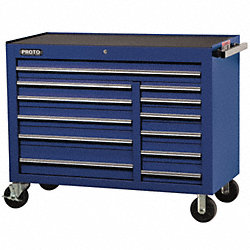 Rolling Workstation, 50 In, 12 Dr, Blue