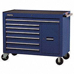 Rolling Workstation, 50 In, 7 Dr, Blue