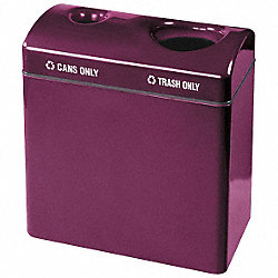 Recycling Receptacle, Multi Open Top, 23G