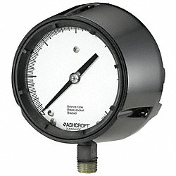 Vacuum Gauge, Process, 4 1/2 In, 30 In Hg