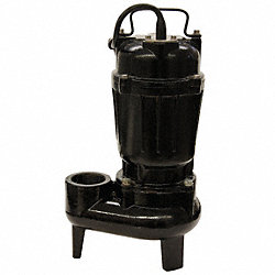 Sewage Pump, 1/2 HP, Cast Iron