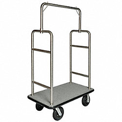 Bellmans Cart, SS Finish, Gray Carpet