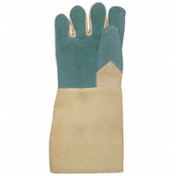 Heat Resistant Gloves, Tan, L, Leather, PR