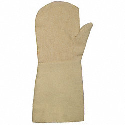 Heat Resist Mitten, Tan, L, Thermonol, PR