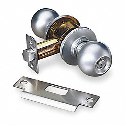 Lockset, Knob, Chrome