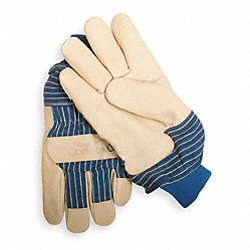 Leather Gloves, Grained Pigskin, L, PR