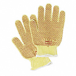 Cut Resistant Gloves, Yellow/Rust, M, PR