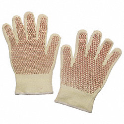 Heat Resist Gloves, White/Ylw/Rust, XL, PR