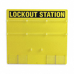 Lockout Station, Unfilled, 21-1/2 In H