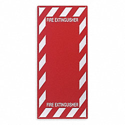 Fire Extinguisher Sign, 29 x 13In, R/WHT