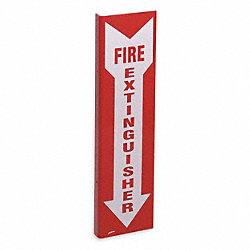 Fire Extinguisher Sign, 18 x 4-1/2In, FEXT