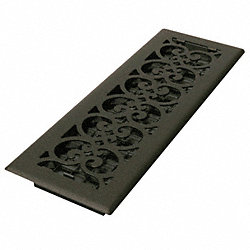 4x14 Scroll Steel Painted Textured Black