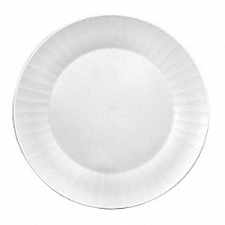 Disposable Plate, 10 1/4 In, White, PK 120