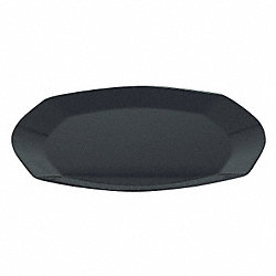 Square Plate, 9 In, Black, PK 240