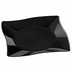 Square Plate, 10 1/4 In, Black, PK 120