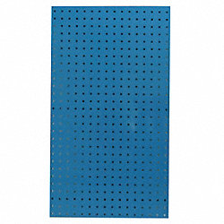 Square Hole Pegboard, 42-1/2x24, Blue, PK2