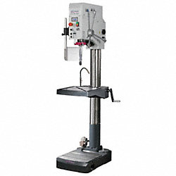 Floor Drill Press, 22 In, 2 HP, 230V, Gear