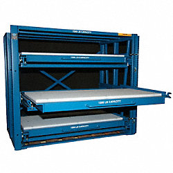 Brake Die Roll Out Shelving, 3 Shelf