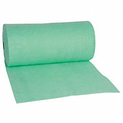 Nonwoven Fabric, Grn, 6-1/4 ft x 400 ft.