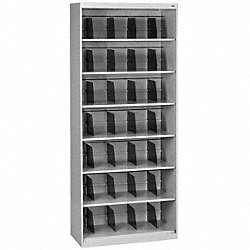 Open Fixed File, Lt Gray, 7 Shelves