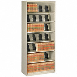 Open Fixed File, Putty, 7 Shelves