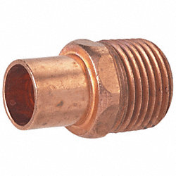 Adapter, Male Solder to MNPT, Pipe 1/2 In