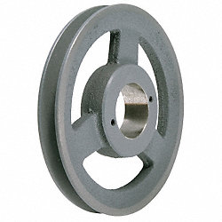 V-Belt Pulley, QD, 6.95 In OD, 1 Groove